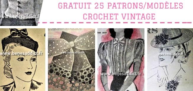 Gratuit 25 Superbes Patrons Modèles Vintage Au Crochet