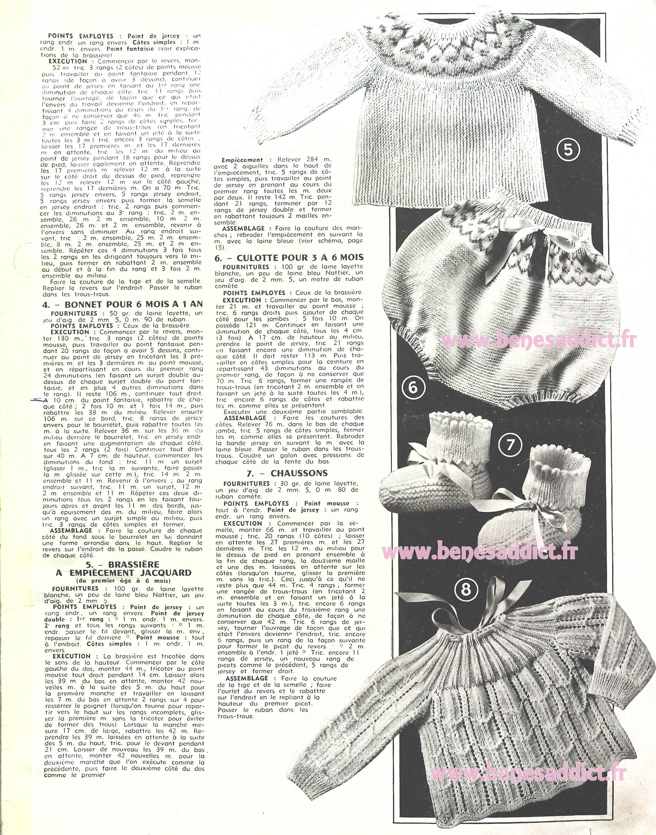 65 Patrons Modeles Gratuits Tricot Layette Et Enfants Vintage 1955